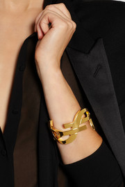 Saint Laurent Monogramme gold-plated cuff