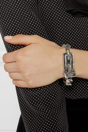 Saint Laurent Buckled sterling silver bracelet