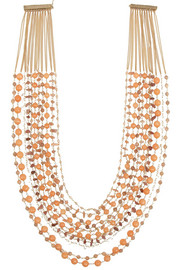 Rosantica Prato Fiorito gold-dipped sunstone and agate necklace