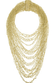 Rosantica Penelope gold-dipped multi-strand necklace