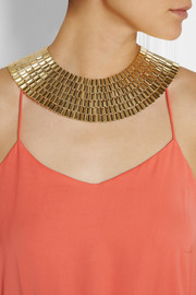 Rosantica Cleopatra gold-dipped necklace