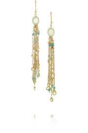 Rosantica Sospiro gold-dipped agate earrings