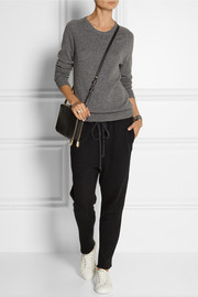 The Elder Statesman Cashmere and linen-blend track pants