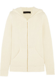 The Elder Statesman Plated cashmere hooded top