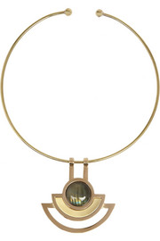 Pamela Love Sunset gold-plated labradorite choker