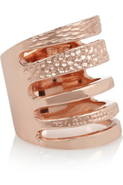 Pamela Love Single Cage rose gold-plated ring