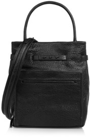 McQ Alexander McQueen Duffle textured-leather shoulder bag