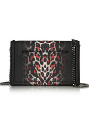 McQ Alexander McQueen Simple Fold leopard-print textured-leather shoulder bag