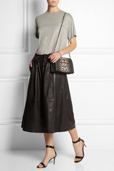 ebd37bde1592 McQ Alexander McQueen. Simple Fold leopard-print textured-leather shoulder  bag