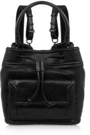 McQ Alexander McQueen Textured-leather backpack
