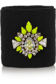 Wimblee Swarovski crystal-embellished stretch-terry wristband