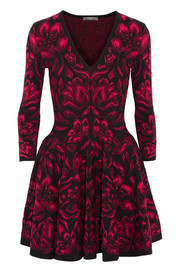 Alexander McQueen Tulip-jacquard mini dress