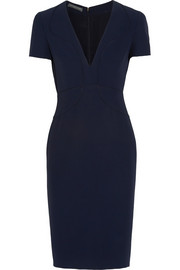 Alexander McQueen Piped crepe dress