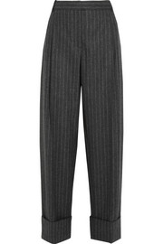 Alexander McQueen Pinstriped wool wide-leg pants
