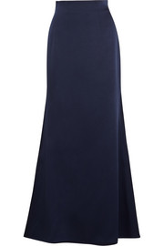 Satin-crepe maxi skirt