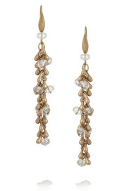 Isabel Marant Gold-tone crystal drop earrings
