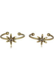 Isabel Marant Set of two gold-tone crystal rings