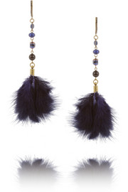 Isabel Marant Gold-tone feather earrings