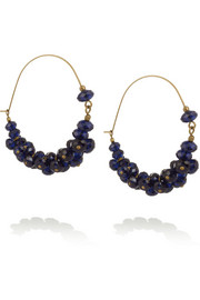 Isabel Marant Gold-tone crystal hoop earrings