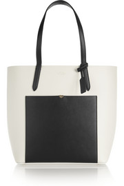 Smythson Panama two-tone textured-leather tote