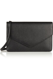 Smythson Panama textured-leather shoulder bag