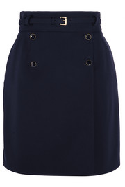 Alexander McQueen Belted wool wrap mini skirt