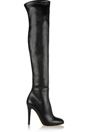 Turner stretch-leather thigh boots