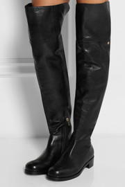 Jimmy Choo Deron polished leather over-the-knee boots