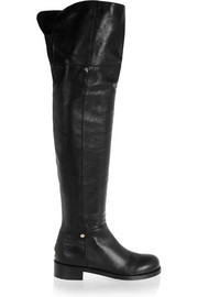 Deron polished leather over-the-knee boots