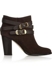 Melba buckled suede ankle boots