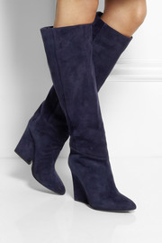 Jimmy Choo Cartel suede wedge knee boots