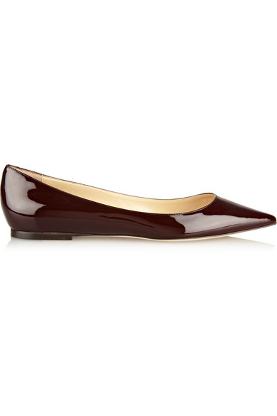 e7a318086f7 Jimmy Choo. Alina patent-leather point-toe flats