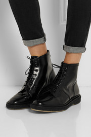 Adieu Type 22 glossed-leather ankle boots