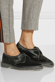 Adieu Type 1 leather-trimmed calf hair brogues