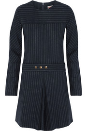 See by Chloé Pinstriped wool-blend mini dress