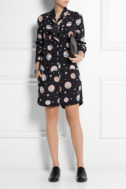 See by Chloé Printed crepe playsuit