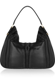 Jimmy Choo Zoe elpahe-trimmed pleated leather shoulder bag