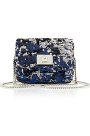 Jimmy Choo Ruby mini sequined leather shoulder bag