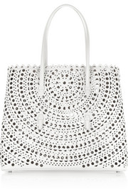 Vienna laser-cut leather tote