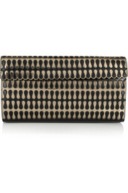 Alaïa Teardrop metallic leather clutch