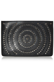 Alaïa Vienna Rivet embellished laser-cut leather clutch
