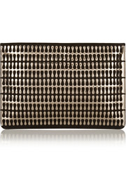 Alaïa Teardrop metallic leather and suede clutch