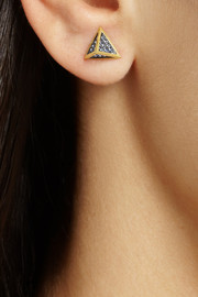 Noor Fares Tehtrahedron 18-karat gold sapphire earrings