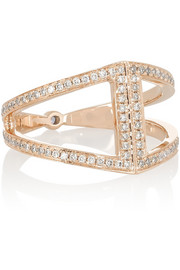 Noor Fares Geometry 18-karat rose gold diamond ring