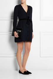 REDValentino Point d'esprit-trimmed wool dress