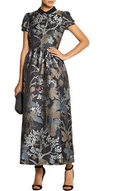 REDValentino Metallic jacquard maxi dress