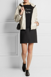 REDValentino Faux shearling and PVC jacket