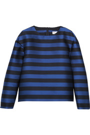 REDValentino Striped taffeta top