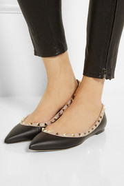 Valentino Rockstud leather point-toe flats