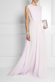 Giambattista Valli Pleated silk-georgette gown